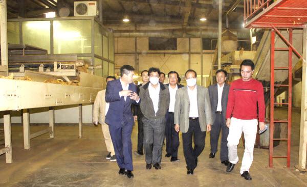 Đoàn công tác của Bộ Công thương, Tổng công ty Thuốc lá Việt Nam, đến thăm và làm việc tại Công ty.