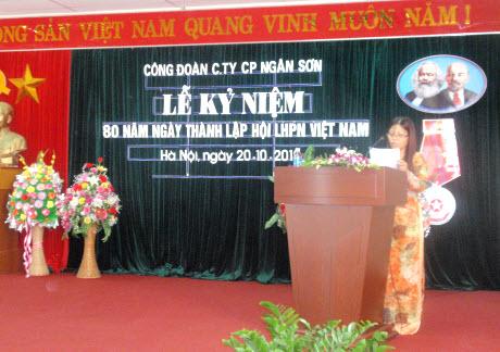 Công ty Ngân sơn kỷ niệm 80 năm ngày thành lập phụ nữ Việt Nam (20/10/1930 – 20/10/2010)