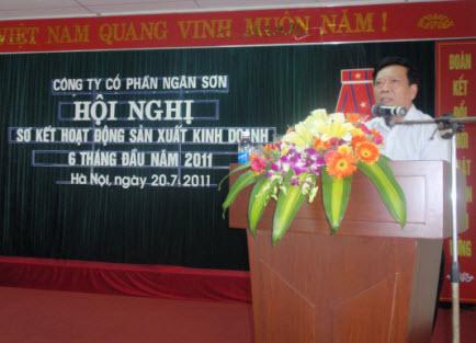 Hội nghị sơ kết đánh giá kết quả sản xuất kinh doanh 6 tháng đầu năm và triển khai nhiệm vụ 6 tháng cuối năm 2011