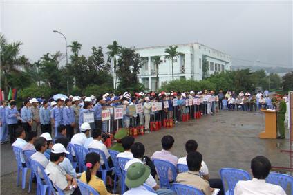 Công ty Cổ phần Ngân Sơn thực hiện xuất sắc công tác vệ sinh an toàn lao động và phòng chống cháy nổ năm 2008