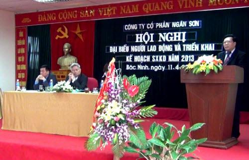 Công ty Cổ phần Ngân Sơn tổ chức Hội nghị đại biểu người lao động năm 2013