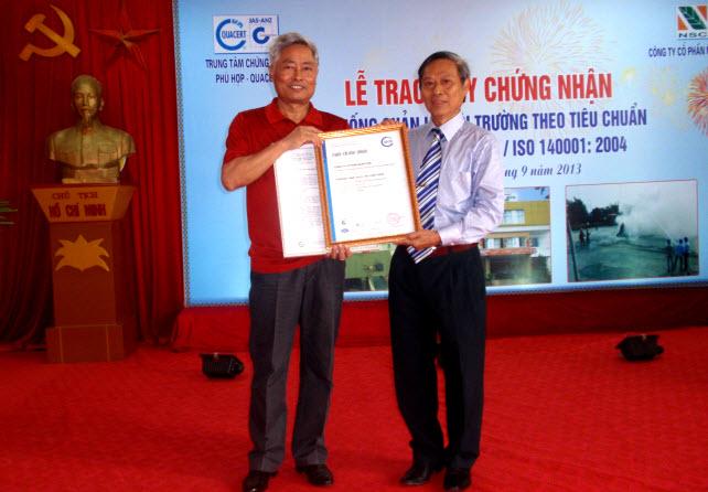 Công ty Cổ phần Ngân Sơn nhận Giấy chứng nhận Tiêu chuẩn chất lượng Môi trường TCVN 14001