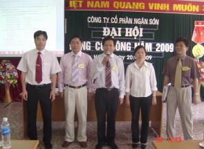 Công ty Cổ phần Ngân Sơn tổ chức thành công phiên họp Đại hội đồng cổ đông thường niên 2009
