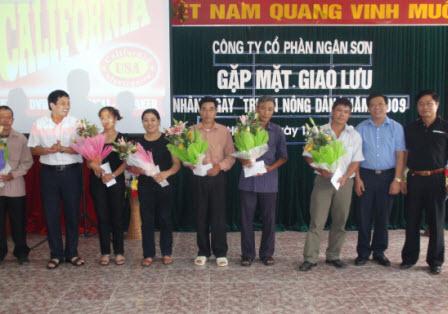 116 nông dân về tham dự Ngày tri ân nông dân tại Công ty Cổ phần Ngân Sơn
