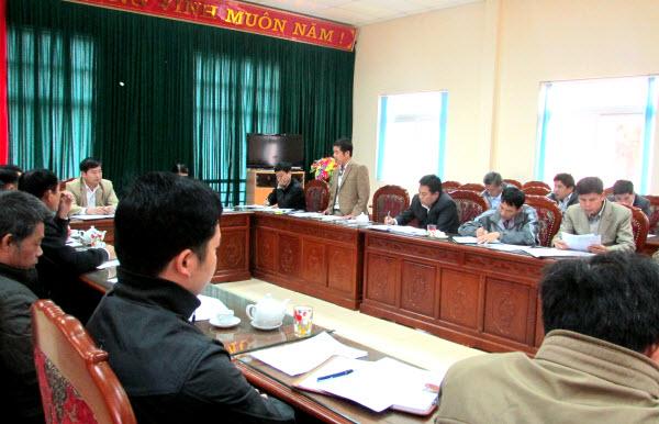 Hội nghị triển khai phương án sản xuất vụ Đông Xuân năm 2014-2015